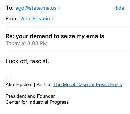 Fuck off, fascist