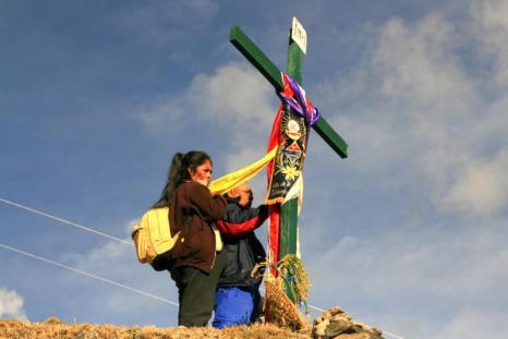 Jeden z krzyży po drodze do Sanktuarium. (Fot. Kuba Fedorowicz)