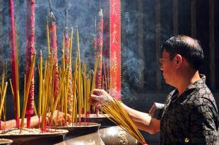 Buddyjskie klimaty w China Town w Sajgonie. (loswiaheros.pl)