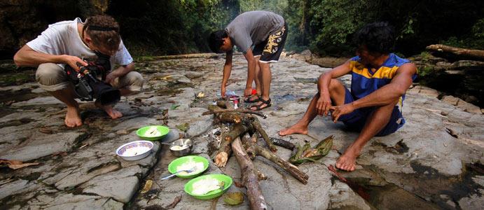 Obiad w dżungli. (Fot. Joanna M. Chrzanowska)