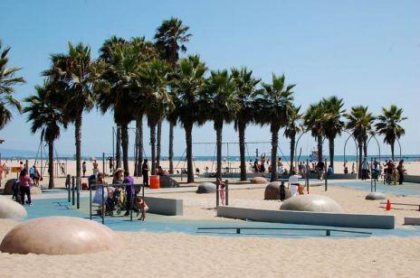 Plaża w Los Angeles. (Fot. Paweł Bielecki)