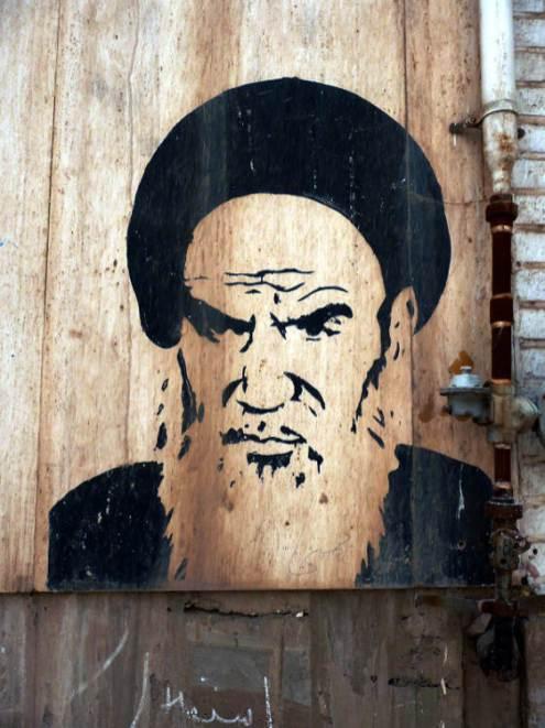 W całym Iranie ze ścian spogląda Chomeini – inicjator i przywódca wielkiej rewolucji. (Fot. Marcin Klimkiewicz)
