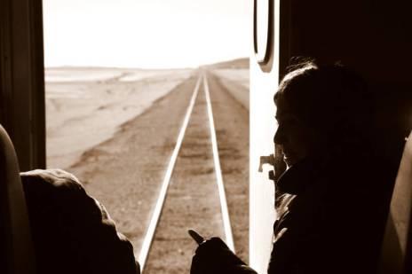 Wreszcie w pociągu zmierzającym do Chile... (Fot. Kuba Fedorowicz)