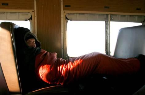 Spać w tym pociagu praktycznie się nie dało z powodu zimna. (Fot. Kuba Fedorowicz)