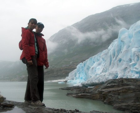 Widok na lodowiec Svartisen.