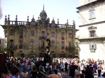 Plac katedralny w Santiago