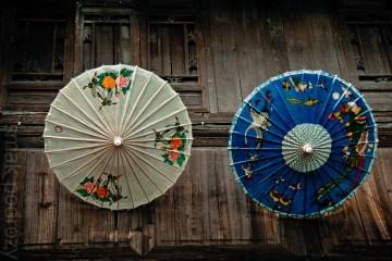 Parasole w Wuzhen - w tym mieście liczy się każdy detal