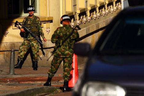 Żołnierze na ulicy w Bogocie