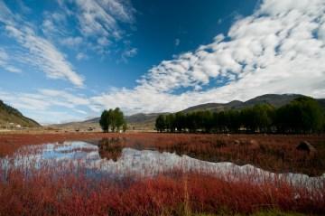 Zdjęcia z Chin, krajobraz z okolic Daocheng