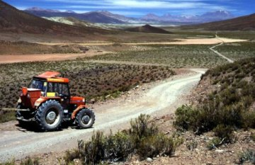 Polski traktor przedziera się przez Amerykę Południową