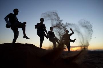 Zachód słońca na Sacharze