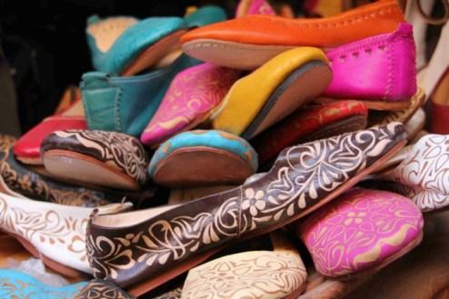 Skórzane marokańskie buty