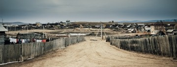 Typowa wioska na Syberii