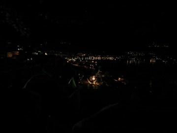 widok na ohrydzki port nocą