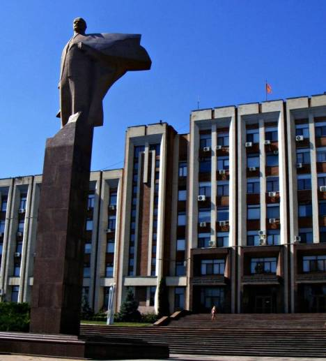Pomnik w Tyraspolu, stolicy Naddniestrza
