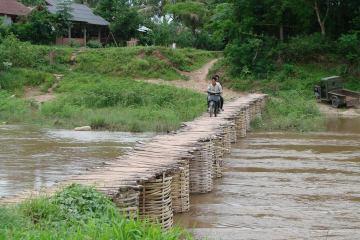 Wystarczy trochę bambusa i mostek gotowy