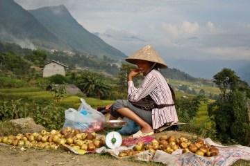 żywność często sprzedawana jest przy drodze