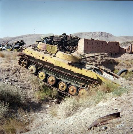 Stary afgański czołg