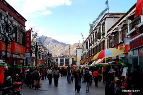 Centrum Lhasy, stolicy Tybetu