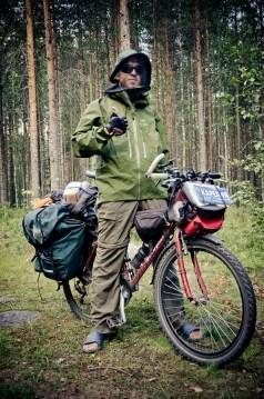 Jakub Rybicki na rowerze