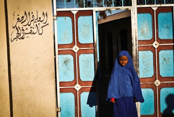Muzułmańska dziewczynka w Somalii