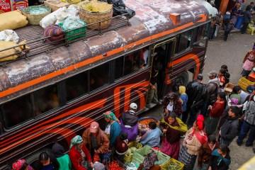 Podróż autobusem w Ameryce Południowej. Zdjęcia