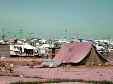 Obóz syryjskich uchodźców w Irackim Kurdystanie