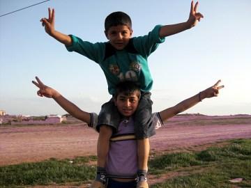 Zwyciężymy - mówią młodzi uchodźcy z Surii