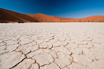 Pustynny krajobraz - zdjęcia z podróży przez Namibię w Afryce