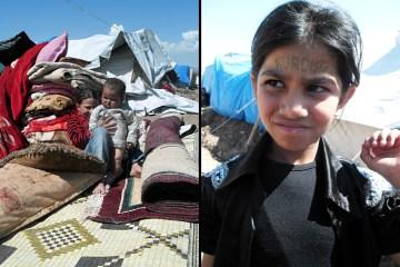Dzieciaki z obozu dla syryjskich uchodźców