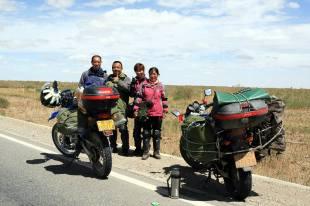 Chińscy motocykliści