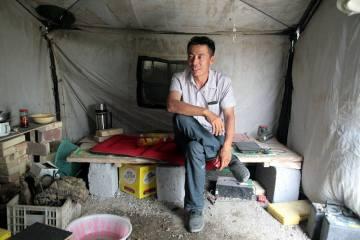 Chińczyk poznany w trakcie motocyklowej podróży przez Chiny