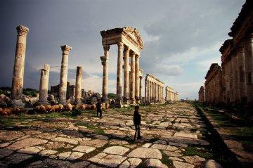 Syria przed wojną. Ruiny starożytnego miasta Apamea