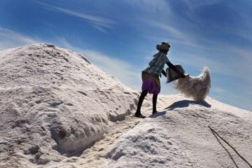 Odzyskiwanie morskiej soli - Indie