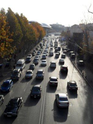 Ruch uliczny w Tbilisi