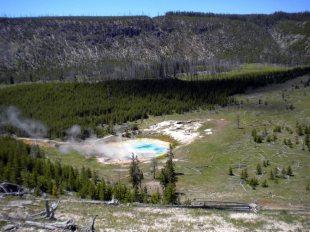 Gejzer w parku Yellowstone
