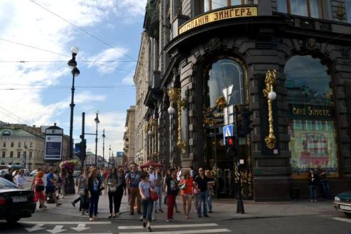 Zabytkowa kamieniaca w centrum Petersburga
