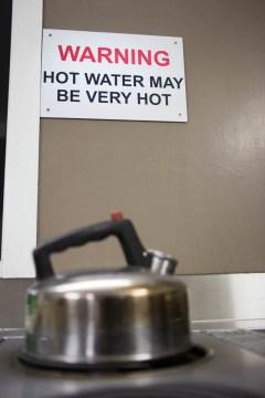 hot water may be very hot
