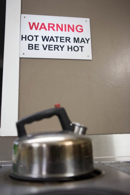 hot water may be very hot