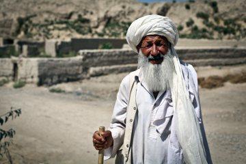 Afgański pielgrzym w miasteczku Balch