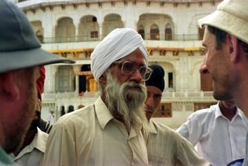 Zdziwiony Sikh spotyka turystów z Polski
