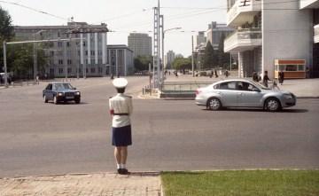 Ulice w Pyongyang - foto
