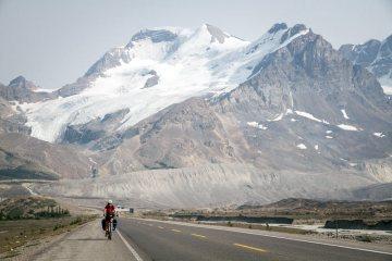 Rowerem przez Góry Skaliste w Kanadzie