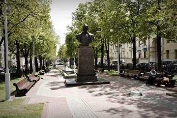 Pomnik Dzierżyńskiego w Mińsku - zdjęcia