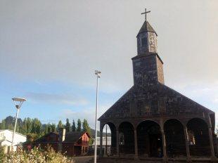Chile, Patagonia. Kościół w miejscowości Achao na Chiloe