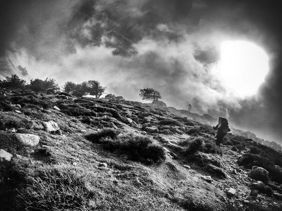 Krajobraz Korsyki - zdjęcia z gór