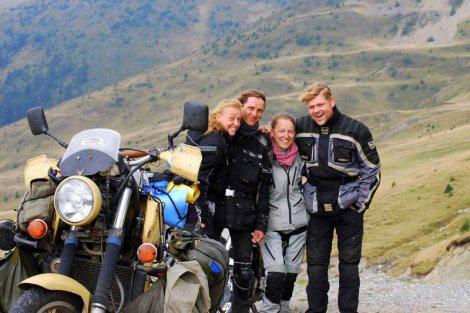Motocykliści w Rumunii