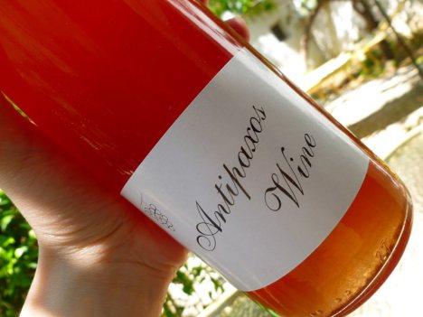 Wino z greckiej wyspy Antipaksos