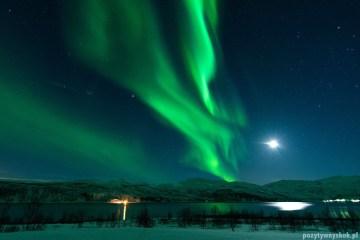 Zielona zorza polarna - zdjęcia z Norwegii