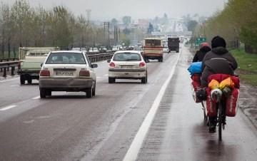AUtostrada w Iranie - podróż rowerem